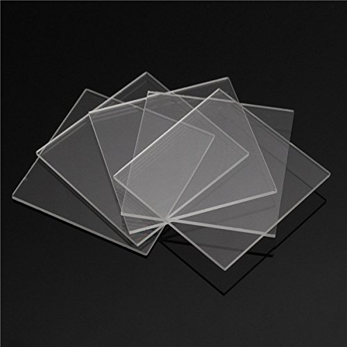 (RISHIL WORLD 5pcs Double Side Polished Fused Silica Quartz Glass Sheets Plate 30mm x 30mm x 1mm )