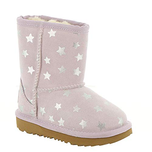 UGG Girls' T Classic Short II Stars Fashion Boot, Lilac, 12 M US Little Kid (Short Classic Ii)