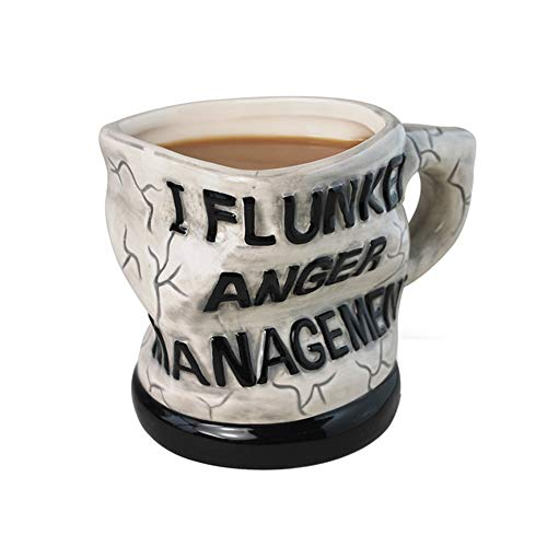 FMTMY Mug Ceramic Twisted Coffee Curled Angry Management Personality- Personalised Gift -Lady Cup Coffee Mugs,for Girl & Women, Idea for Home/Office / Work