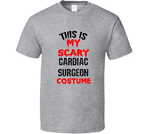 SHAMBLES TEES This is My Scary Cardiac Surgeon Costume Funny Occupation Halloween T Shirt L Sport Grey ()