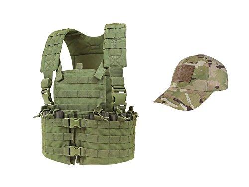 Chest Modular (CONDOR Outdoor Modular OD Green Chest Set and Tactical Cap Mandrake bundled by Maven Gifts)