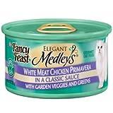 Fancy Feast Elegant Medleys White Meat Chicken Primavera With Garden Veggies And Greens (24/3-oz cans), My Pet Supplies