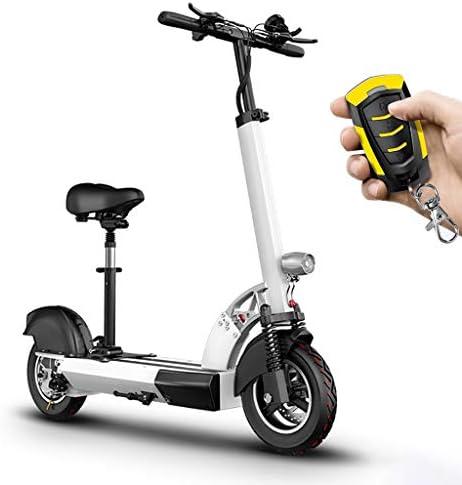 電動スクーター大人、400wモーター、最大速度40km / h、10インチ空気入りタイヤ、最大140kgの負荷、大人と10代の折りたたみ式E-スクーター、インテリジェントLEDディスプレイとフロントテールライト