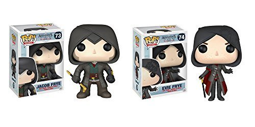Pop! Games: Assassin's Creed Syndicate Jacob Frye and Evie Frye Vinyl Figures! Set of 2