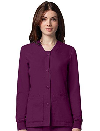 Super Pro Warm Up Jacket - Grey's Anatomy Women's Sporty Button Front Jacket XXX-Large Wine