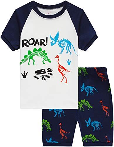 IF Family Dinosaur Pajamas for Boys Baby Summer Clothes Toddler Kids PJs Children Short Sets 5t -