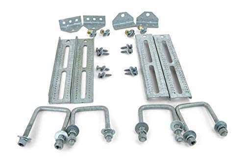 Sturdy Built (4) 12'' Galvanized Swivel Top Bunk Bracket Kit with Hardware for 3x3 Boat Trailer Crossmember by Sturdy Built