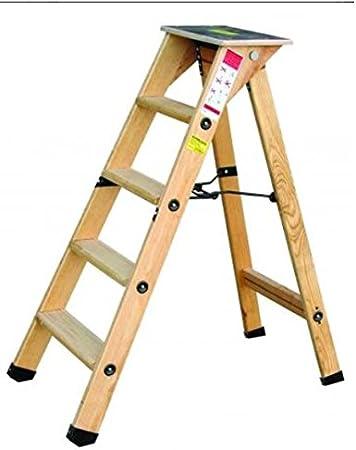 Outifrance 8831260 – Escalera Madera Profesional simple Plan de subida 5 peldaños con Tablet: Amazon.es: Bricolaje y herramientas