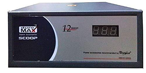 Whirlpool Refrigerators- Duromax DMNVX1205-D2 Stabilizer with 1 yr Replacement Warranty- Upto 450L, Blue Grey 2021 July Only for Upto 450L Refrigerators & 1 year Replacement Manufacturer warranty Voltage Indicator::::7 Segment Display Operating Voltage Input::::120VAC to 280VAC