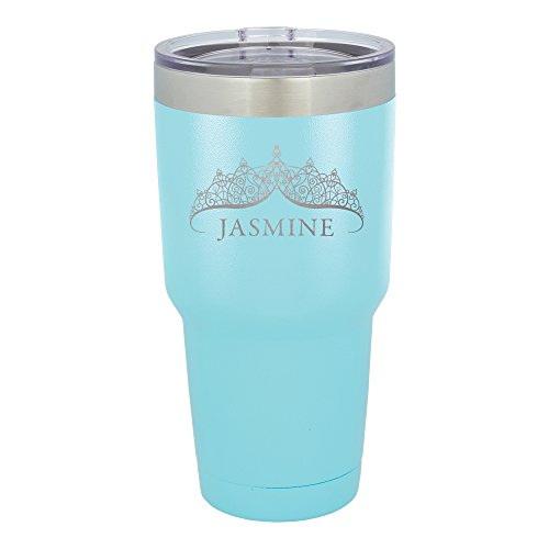 Froolu Monogrammed Artic Tumbler - Teal Personalized Laser Engraved Tumbler - Hydro Travel Cup ()