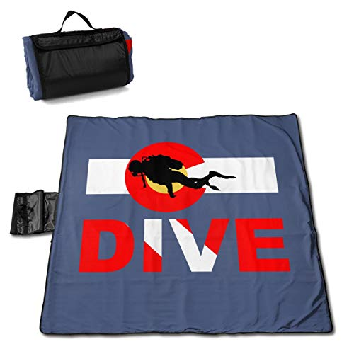 DXYC-DZ Colorado Flag Scuba Dive Picnic Blanket Beach Waterproof for Picnic Beaches Outings 57