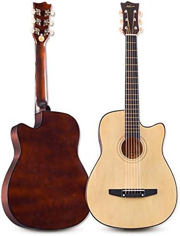 アコースティックギター 41 Inthes初心者フルサイズのローズウッド指板とクラシックギター 小学生 大人用 ギター初級 (色 : Natural, Size : 41 inches)