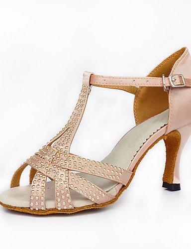 La mode moderne Sandales femmes personnalisables verni semelle en cuir chaussures de danse salsa/latin/moderne /Swing Noir Talon Chaussures de danse latino/Sneakers/Tap,Black,US10.5/EU42/UK8.5/CN43