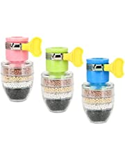 EACHPT 3 stks actieve kool waterkraan 6-laags filtratie mini waterfilter kraan keukenkraan waterfilter spatbestendig kraanwaterfilter clean purifier filter cartridge voor keuken huis badkamer
