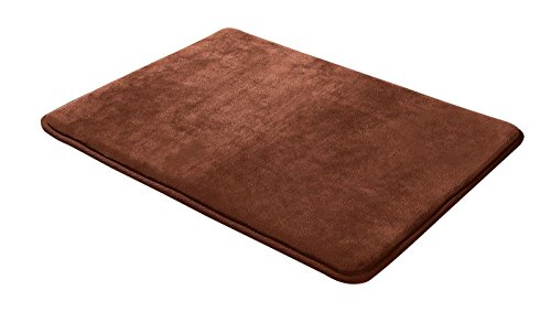 "Luxurious Absorbent Soft Memory Foam Bath Mat Bathroom Shower Rug Non Slip Size 17""24"" Color Chocolate from Unknown"