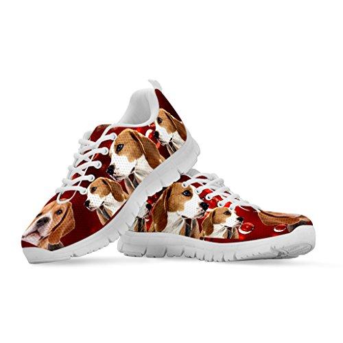 Dog Women's Beagle Casual Custom Sneakers Breed Print Running Shoetup Your Choose Shoes ft5qxUwxZ