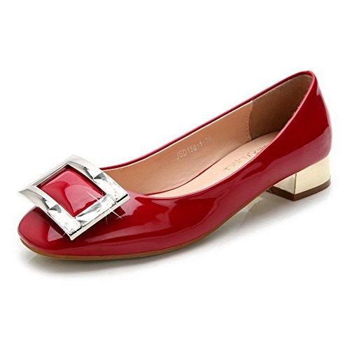 AalarDom Damen Niedriger Absatz Weiches Material Gemischte Farbe Pumps Schuhe