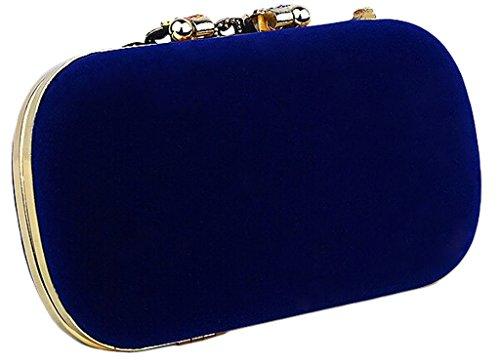 Adhesivos, diseño de pavo real de diamantes noche bolsa de embrague bolso fiesta Prom bolsas garras rosa negro azul, negro (negro) - XBK-111 negro