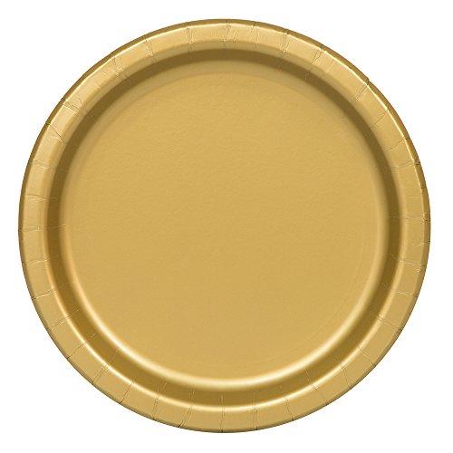 sc 1 st  Amazon.com & Amazon.com: Gold Paper Plates 16ct: Party Plates: Kitchen \u0026 Dining