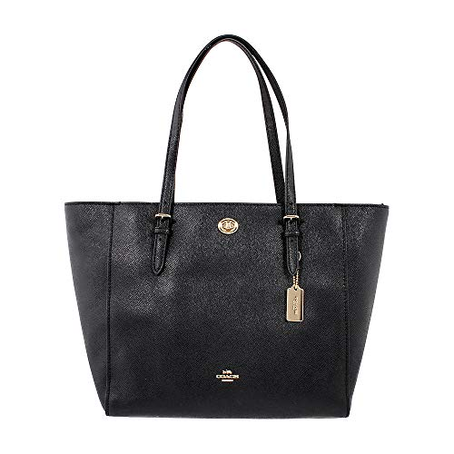 COACH Women's Crossgrain Turnlock Tote Li/Black One Size