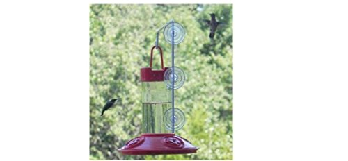 Songbird Essentials SE6002W All Red Dr. JB's 16 oz Hummingbird Feeder with SE077 Hanger (Set of 1)