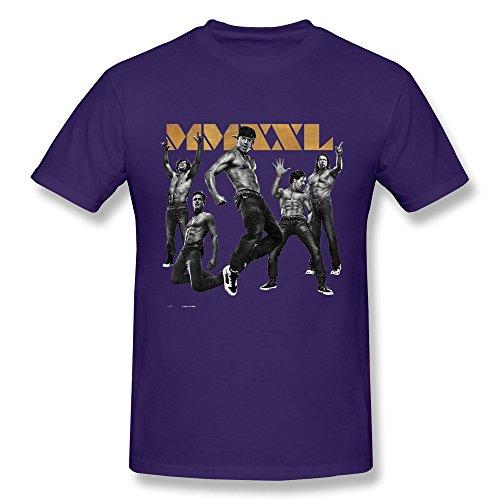 - KAITIAN Magic Mike Men's Crew Neck T-shirt Purple Size L