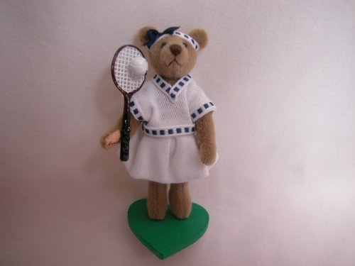 World of Miniature Bears 2.5 Plush Bear Monica Tennis Player #828 Collectible Made by Hand by World of Miniature Bears