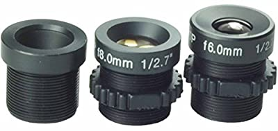 Kits of Lens 6mm,8mm,12mm Board Lens Black for Security CCTV Surveillance Camera