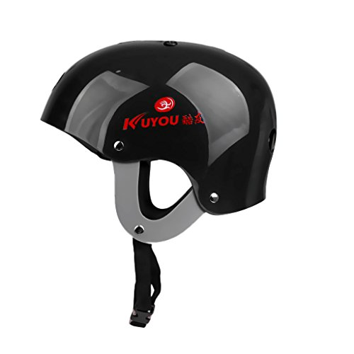 MonkeyJack Pro Safety Adjustable Helmet CE Approved for Whitewater Waterskiing Sports Kiteboarding Wakeboarding Kayaking Sailing Rafting Boating Head Circumference 22.4''-24.4''