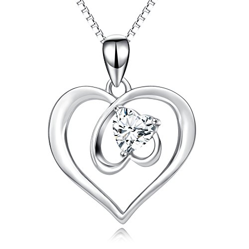 Open Heart Jewelry S925 Solid Silver Eternal Love Forever In My Heart Pendant Necklace 18