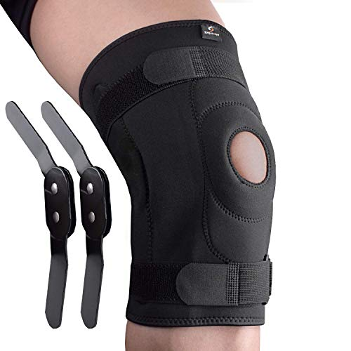 Sportout Knee Brace Support, Removable Aluminum Hinges Knee Brace Perfect for Meniscus Tear, ACL, Strains, Knee Pain, Arthritis,Men & Women (XL)