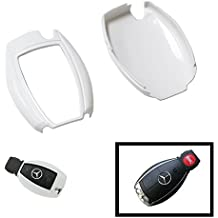 iJDMTOY (1) Exact Fit Gloss Metallic Pearl White Smart Remote Key Fob Shell For Mercedes-Benz C E S M CLS CLK GLK GL Class, etc