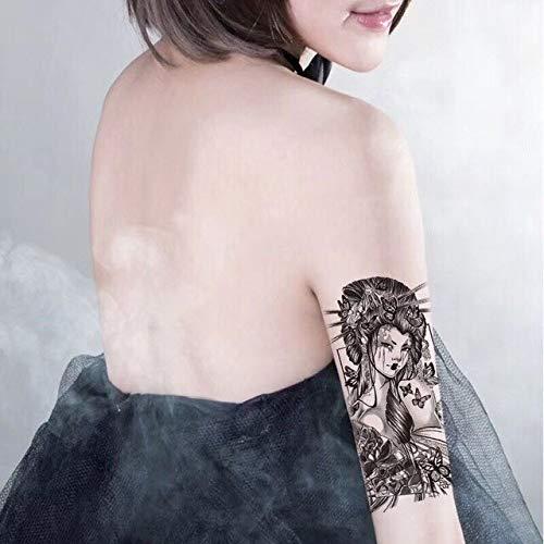 Negro Big Flower Body Art Impermeable Temporal Sexy Tatuaje falso ...