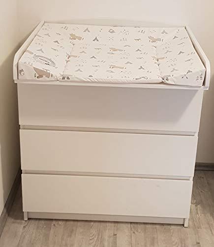 perezoso Kids - Cambiador ufsatz para Ikea kommoden Cómoda, con una anchura de 30 - 51 cm madera color blanco: Amazon.es: Bebé