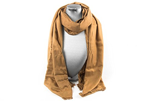 scarf-woman-roncato-pashmina-plain-colour-camel-100-viscose-l1401
