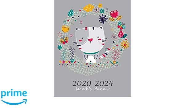 2020-2024 Monthly Planner: Pretty Cats, 60 Months ...