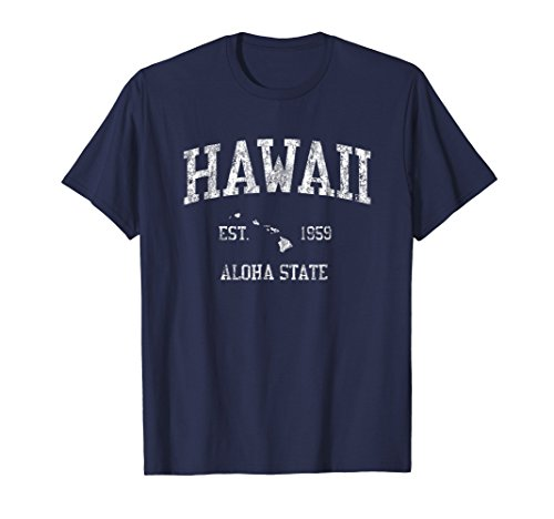 (Hawaii T-Shirt Vintage Sports Design Hawaiian Islands HI)