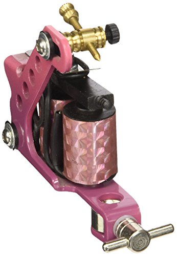 (2) x Professional Cast Iron 10 Wrap Aluminum Coils Tattoo Machine Liner & Shader, Pink, OTW-M201-8