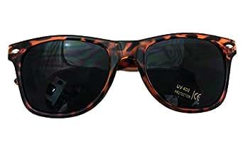 Shaderz Classic Tortoise Brown Retro 80's Wayfarer Sunglasses