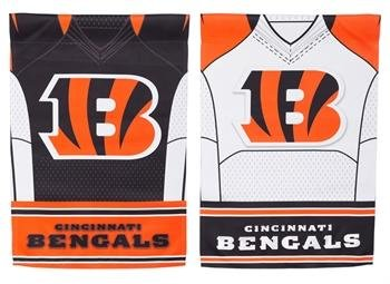 (Team Sports America Cincinnati Bengals Double Sided Jersey Suede Garden Flag, 12.5 x 18 inches)