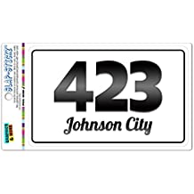 Area Code B&W Window Laminated Sticker 423 Tennessee TN Jellico - Talbott - Johnson City