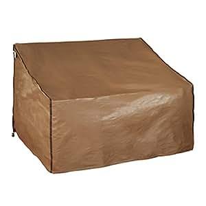 Abba Patio Outdoor Sofa Loveseat Cover Patio Wicker Rattan Lounge Porch Sofa Cover