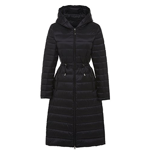 Paragraph Xuanku Long Slim Winter Black The Waist Jacket Autumn And Thin Hat Thin In Down Female rwqPrv