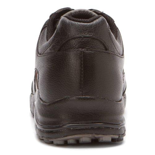 Propet Mujeres Journey Zapato De Cuero Negro / Estaño