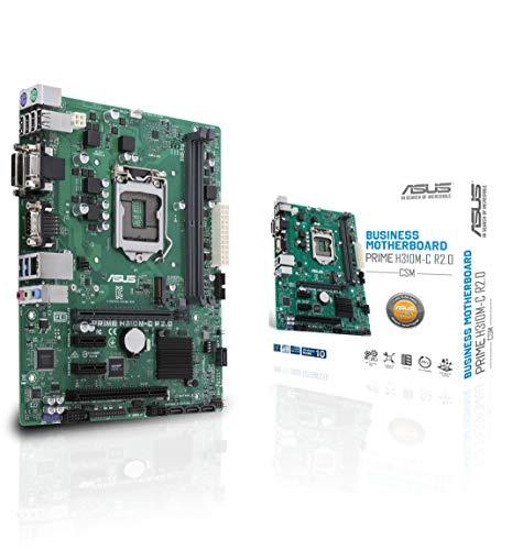 (ASUS LGA1151 (300 Series) DDR4 M.2 VGA mATX Motherboard Motherboards Prime H310M-C R2.0/CSM)