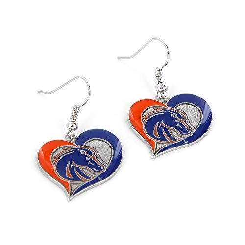 NCAA Boise State Broncos Swirl Heart Earrings