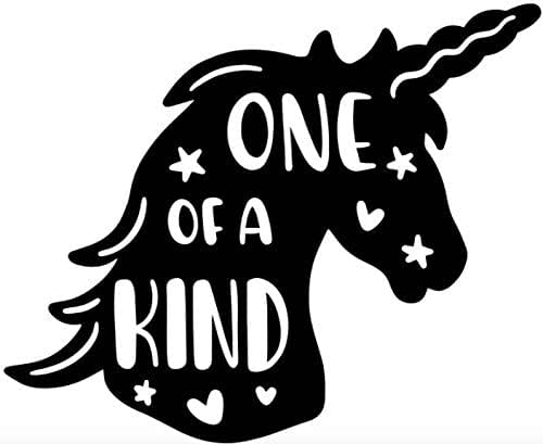 Amazon Com One Of A Kind Unicorn Permanent Vinyl Decal