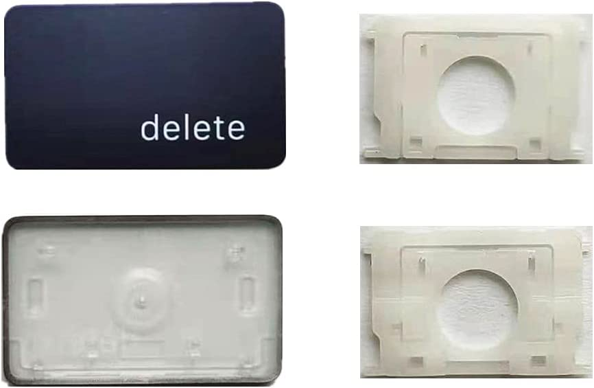 Replacement Individual Delete Key Cap and Hinges are Applicable for MacBook Pro/Air A2141 A2251 A2189 A2179 Keyboard to Replace The Delete keycap and Hinge
