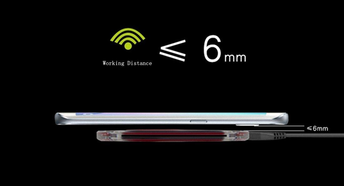 nota 5 Blanco Cargador Inal/ámbrico S6 S6 Edge Plus S6 Edge // Active Nexus 6 5 Moto Turbo 2 etc. S7 S7 Edge hanende/® Qi Almohadilla De Carga Inal/ámbrica para iPhone 8 // 8 Plus // iPhone X,Samsung Galaxy S8 S8 Plus