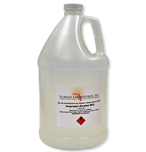 1 Gallon Isopropyl Alcohol Grade 99% Anhydrous - Pack of 4 Quarts